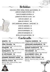 Bebidas 1 de 2 Español